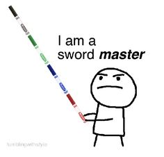 How markers are used in elementary school...   (source:  http://24.media.tumblr.com/tumblr_ljrr5105vi1qaglb0o1_500.png )
