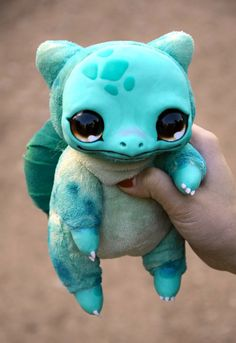 Bulbasaur from Pokemon. You can order any other Pokemon you like! Price may vary depending on size and difficulty. Please contact me for details. Approx 16 cm ( ~6) in sitting position. ATTENTION! This is made to order toy! I dont have this creature in stock right now! It will take