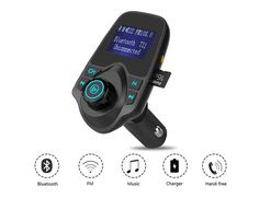 SolidPin Wireless Car MP3 Audio Player Bluetooth FM Transmitter Modulator Radio Adapter Car Kit Hands-free LCD Display USB Charger for iPhone 7 Plus 6S 5S Samsung Android Cell Phone/ Tablet iPad iPod