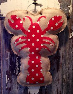 Burlap Crawfish Hanger on Etsy, $35.00