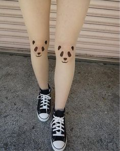 Panda tattoo tights - but how cool would it to get one panda somewhere as a tat x