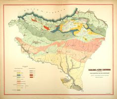 """Euskalerrico agerkai lurkindarra"". Mapa geológico (1950)"