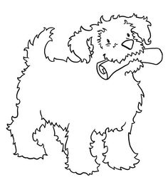 Dog A Happy Dog And Its Lovely Home Coloring Page Kids Activity