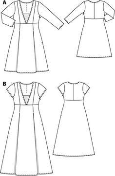 V Neck Dress (Plus Size) 05/2015 #128A  -  Mine is in Digital US Burdastyle Summer 2015
