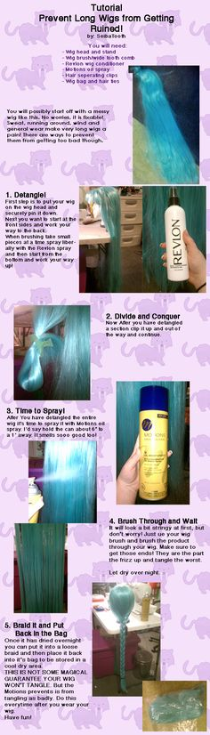 Tutorial: Detangling Long Wigs by ~SeibaTooth on deviantART. Wish I had seen this ages ago before I started using wigs for cosplay. I know I have a pin for wig rehab somewhere. Snk Cosplay, Cosplay Diy, Cosplay Makeup, Costume Makeup, Cosplay Outfits, Halloween Cosplay, Best Cosplay, Awesome Cosplay, Sfx Makeup