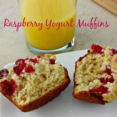 Need an easy breakfast or snack on the go?  These Raspberry Yogurt Muffins are exactly the recipe you're looking for!