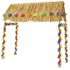 "Hawaiian Luau Hut | 4.5' x 2.5' x 22"" for $58.30"