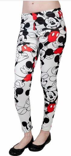 Leggings Mickey Mouse. Disney Simpáticos  leggings del mundo de Disney, con múltiples y simpáticas imágenes del ratón más famoso de la historia, Mickey Mouse.