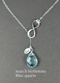 Bridesmaid gifts Infinity necklace por TheFabulousJewelry en Etsy, $37.99