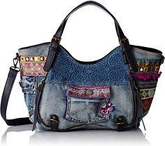 Desigual Rotterdam Exotic Jeans Bag, Marine: Handbags: Amazon.com
