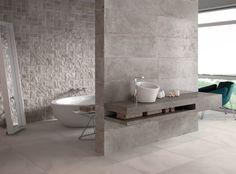 Serie Kota by #Grespania #bathroom #concrete #ceramics #tiles