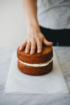 Spelt Vanilla & Blood Orange Cake w/ Whipped Cream