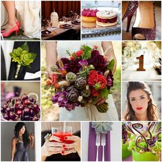 My Wedding! (Coral, Raspberry, Lime & Plum) | The Blushing Bride
