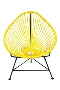Yellow Acapulco Chair - Black Frame by Innit Designs