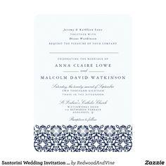 Santorini Wedding Invitation | Navy | Zazzle.com.au