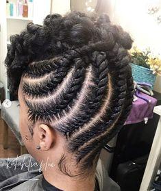 Natural Hair Flat Twist, Flat Twist Updo, Twist Braids, Flat Twist Out, Twist Cornrows, Braids Cornrows, Fulani Braids, Twist Ponytail, Dutch Braids