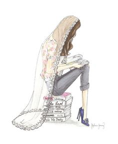 The Reader Series Bride To Be Watercolor by StephanieJimenez