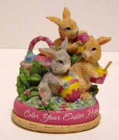 1998 American Greetings pääsiäinen hahmo Color Your Pääsiäinen Onnellinen Bunnies | eBay