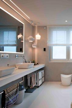 Bathroom Lighting, Bathroom Ideas, Interior Design, Mirror, Furniture, Home Decor, Shower, Bathroom Light Fittings, Nest Design
