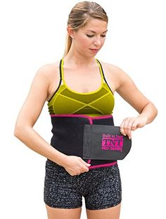 TNT Pro Series Waist Trimmer Weight Loss Ab Belt Premium Stomach Fat Burner Wrap and Waist Trainer At Last… a waist trimmer that is wide enough to cover up your entire abdominal area!… that won't slip and fall out of place during use… and will actually repel (not absorb!) sweat during exercise! Introducing… The ONLY 100% latex free neoprene waist trimmer ab belt for men and women that measures a full 9 (or 10!) inches wide, providing the Ultimate Support, Comfort and Look!WHICH SIZ..