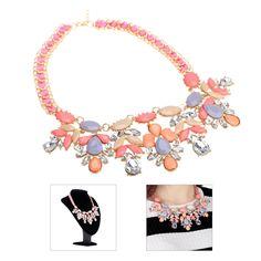 Bohemian Elegant Rhinestone Pendant Clavicle Chain Choker Necklace Collar Jewelry Accessory for Women Girls