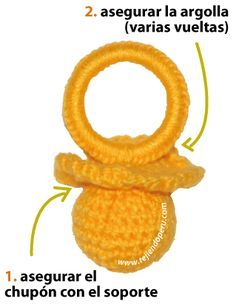 chupones o chupetes en crochet