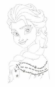 #dibujos #frozen #Elsa #repasarpuntos #repasar #puntos #repasarlospuntos #arteconclase
