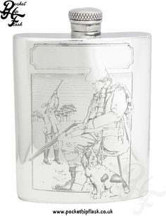 English Pewter Shooting hip Flask at The Pocket Hip Flask Company: