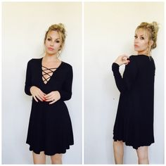 Little black dress Love this! So sexy yet comfortable. This lace up dress is a total must have! Runs true to size. Great quality, non sheer. Bohemian Sea Other