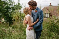 Bride and Groom from a Charming Seaside Wedding in Whitstable | Photography by http://lmweddings.co.uk/