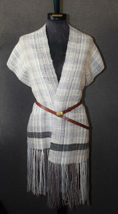 Handwoven wool shawl, scarf