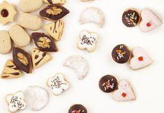 vánoční cukroví   Recepty Food And Drink, Gluten Free, Sugar, Cookies, Desserts, Fit, Flowers, Glutenfree, Crack Crackers