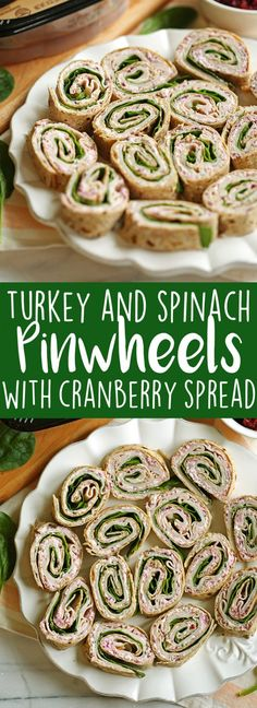 Healthy Turkey Pinwheels with Cranberry Spread   Eat Yourself Skinny