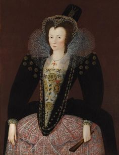 English: Portrait of Anne Clifford, Countess of Dorset and later Countess of Pembroke (1590 - 1676). 1596.