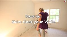 How to get rid of ugly wall texture - Skim Coating - Sawdust Girl® Home Improvement Projects, Home Projects, Home Renovation, Home Remodeling, Sawdust Girl, Smooth Walls, Home Repairs, Diy Interior, Textured Walls