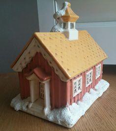 Vintage 1979 Byron Mold Ceramic Schoolhouse Christmas House