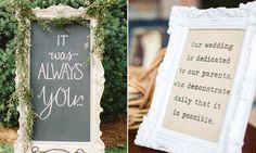 """Lyrics from one of my favorite songs- """"Foxglove"""" by Murder By Death. """"It was always you""""   18 Wedding Signs That Add Even More Romance To The Big Day 