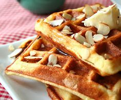 Almond Flour Yogurt Waffles (Low Carb and Gluten Free) | All Day I Dream About Food