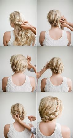 A DIY Halo Braid tutorial for elegant brides who are looking for a minimalist yet romantic wedding updo they can do by themselves. Click here to learn how to create this elegant wedding hairstyle now. #diyweddingtutorials #weddinghairstylesforlonghair #diyweddingupdos #weddingupdos