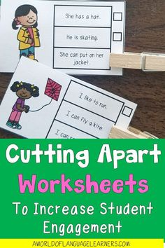 Learn tips about cutting apart worksheets to help students stay engaged in a new way. This is an easy way to provide differentiation, use interactive notebooks, and provide repeated practice. Magnetic Letters, Student Engagement, Differentiation, Interactive Notebooks, Student Learning, Task Cards, Learn English, Vocabulary, Teaching Ideas