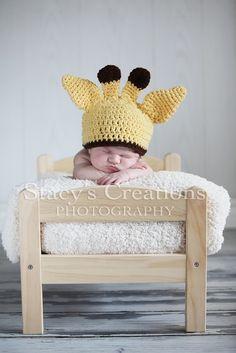 baby crochet hat giraffe