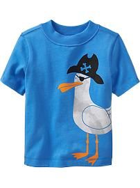 Seagull Graphic Tees for Baby