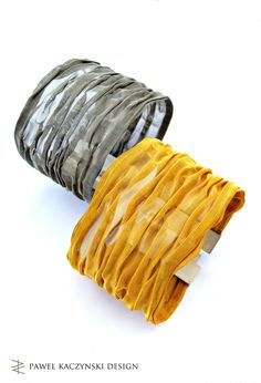 "Bracelets - ""Bronze"" collection 2003 - silver, bronze gold-plated, steel - Pawel Kaczynski Jewellery"