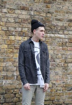 Washed Black Denim Shirt   £38