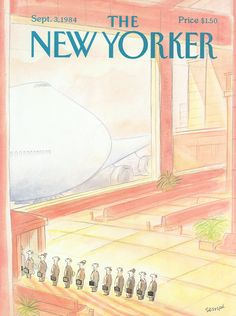 """The New Yorker - Monday, September 3, 1984 - Issue # 3107 - Vol. 60 - N° 29 - Cover by : """"Sempé"""" - Jean-Jacques Sempé"""