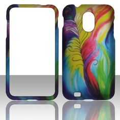 Buy 2D Feathers Design Design Samsung Epic 4G Touch (Galaxy S II) D710 (Sprint & U.S Cellular) Case Cover Hard Phone Case Snap-on Cover Rubberized Touch Faceplates NEW for 5.99 USD | Reusell