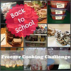 Back to School Freezer Cooking Challenge