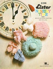 Lister 2135 baby loopy hats vintage knitting pattern