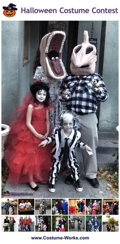 Beetlejuice Family - a lot of DIY costume ideas for families!