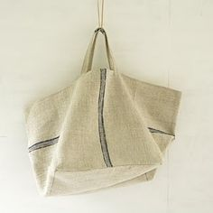linen bag, I like how the stripes are apposing